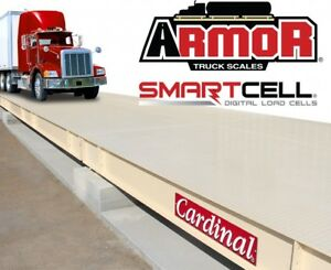 Used 75 x11 Cardinal Smart Cell Digital Cells Ntep Steel Deck Truck Scale