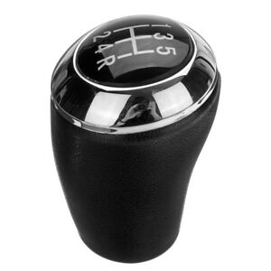 5 Speed Black Pu Leather Car Gear Shift Knob Stick Shifter Grip For Mazda 3 5 6