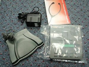 Dictaphone 3750 Microcassette Transcriber With Foot Pedal Headset Warranty