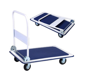 660lbs Platform Cart Large Dolly Folding Foldable Moving Warehouse Push Hand Tru