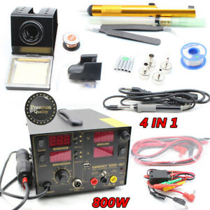 4in1 909d Soldering Iron Rework Station Hot Air Gun 110v 2a Rework Station 800w
