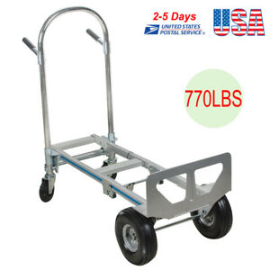 Portable Cart Folding Dolly Push Truck Hand Collapsible Trolley Luggage 770 Lbs