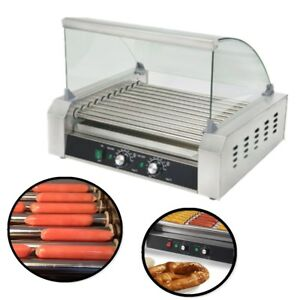 Kitchen Tool 11 Roller Grill 30 Hot Dog Stainless Steel Cooking Hot Dog Machine