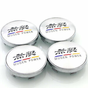 New 4pcs Lot 60mm For Honda Accessorie Mugen Logo Auto Car Wheel Center Hub Caps