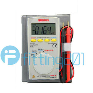 New Sanwa Pm3 Digital Multimeter With Multi function Pocket Type