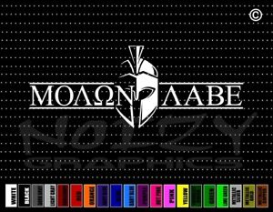 Molon Labe 1 2nd Amendment Gun Rifle Spartan Nra Car Decal Window Vinyl Sticker