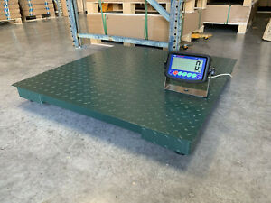 5 Year Warranty 10 000 Lb X 1lb 40 x40 Floor Scale Pallet Scale With Indicators