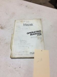 Mazak Operation Manual Mazatrol M 32