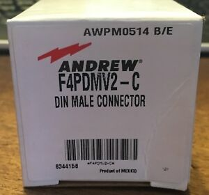 Lot Of 25 Commscope Andrew F4pdmv2 c Din Male Connector For 1 2 Superflex New