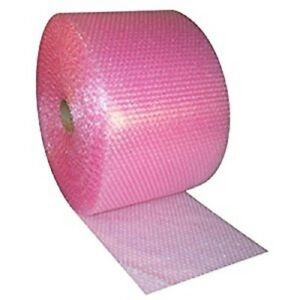 Pink Anti Static 3 16 x 24 Small Bubbles Perforated At 12 300 Ft Bubble Roll