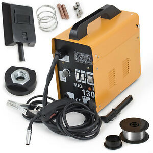 Mig 130 Pvc Flux Core Wire Welder Welding Machine Automatic Feed With Free Mask