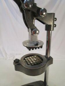 Used Commercial Vegetable French Fry Cutter 1 2 Cut Table Top Suction Cups