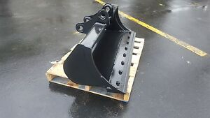 New 48 Excavator Ditch Cleaning Bucket For A Yanmar B50 With Coupler Pins