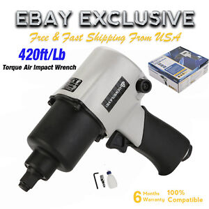 1 2 Drive Air Impact Wrench Torque Heavy Duty Pneumatic Spanner Tool 420ft Lbs B
