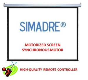 Simadre Electric Motorized Projection Screen 84x84 1 1