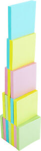 4a Sticky Note Memo Reminder 3 X 3 Pastel Assorted 18 Pads Total 1800 Sheets