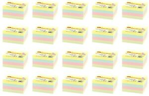 4a Sticky Note Cube Self stick Notes 3 X 3 Pastel Assorted Total 8000 Sheets