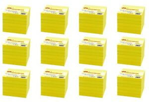 4a Sticky Pop up Self stick Notes 3 X 3 Canary Yellow 72 Pads Total 7200 Sheets