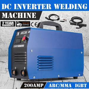 200a Mma Stick Arc Welder Machine 110 220 Dual Voltage Welding Accessories Set