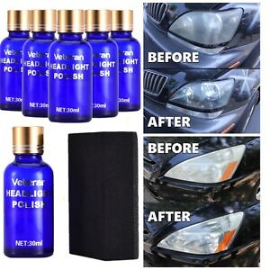 Car Headlight Lens Restoration System Repair Kit Plastic Light Polishing Coating