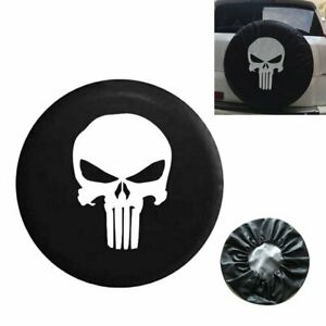 17 Inch Spare Tire Cover Punisher Skull For Jeep Liberty Cherokee Wrangler 95 17