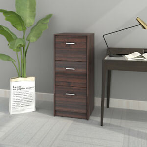 Devaise 3 drawer Wood Filing Cabinet Organizer Nightstands Office Furniture