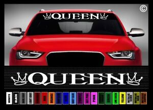 40 Queen 1 Cute Funny Princess Mom Family Car Decal Sticker Windshield Banner