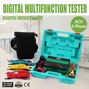 All powerful Insulation Resistance Tester Detector Megger Auto Lcd Testing