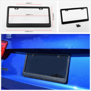 Us Vehicle Standard Size Carbon Fiber License Plate Frame Cover Durable Amp Strong Fits Ford Racing
