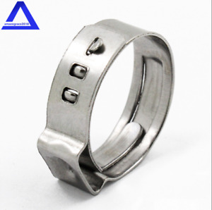 50pcs 1 Pex Stainless Steel Clamp Cinch Ring Crimp Pinch Fitting Tubing Us New