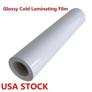 Us 60 X 50yd Roll Glossy Cold Laminating Film Monomeric 3 15 Mil