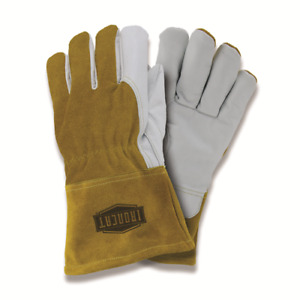 Large Ironcat Premium Grain Goatskin Fleece Lined Mig Welding Gloves Dozen