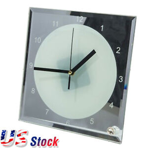 Usa Stock 7 8 X 7 8 Sublimation Blank Glass Photo Frame With Clock