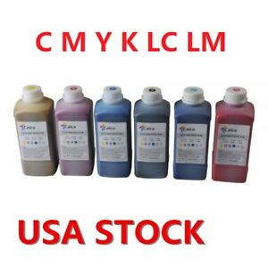 Us Stock 6 Color Calca Compatible Roland Eco Solvent Ink C M Y K Lc Lm