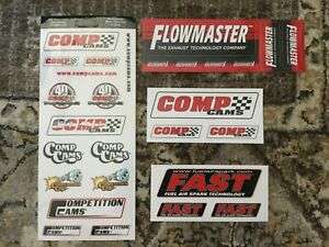 Lot Of 28 Racing Nhra Stickers Flowmaster Fast Comp Cams Decals