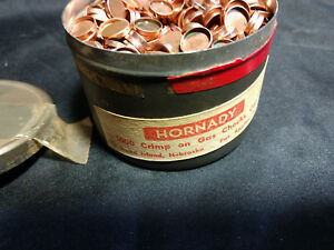 vintage Hornady 1000 crimp on gas checks .35 in metal tin