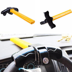 T style Heavy Duty Anti Theft Device Car Security Rotary Steering Wheel Turnlock