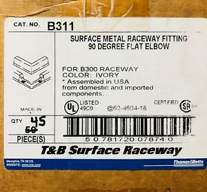 T b Case Of B311 Surface Raceway Ivory 90 Degree Flat Elbow Fitting
