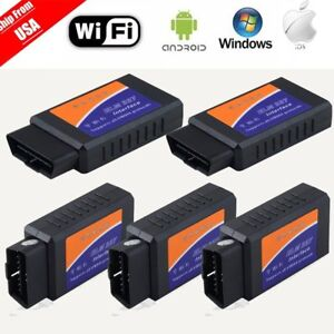 5pc Wifi Obd2 Obdii Car Diagnostic Scanner Code Reader For Iphone Andriod Win Be