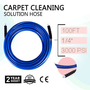 1 4 X 100 Machine Carpet Upholstery Cleaning Solution Hose 100 Ft