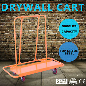 Drywall Cart Dolly Handling Sheetrock Sheet Panel Service Cart Casters 3000lbs