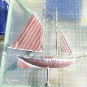 Vintage Copper Sailboat Nautical Weathervane Large Cape Cod New England