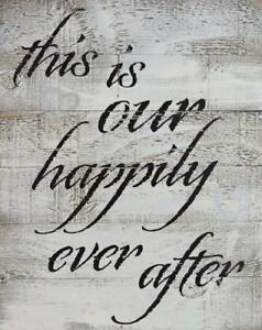 Rustic Barn Wood Pallet Sign This Is Our Happily Ever After Size 14 X 18 2