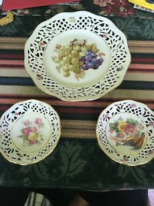 German Reticulated Porcelain Plates