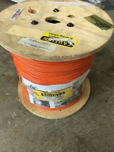 14 Awg Solid Tracer Wire 2500ft Orange Copperhead Direct Burial