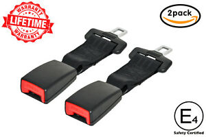 Zeme E4 Safety Certified 8 Car Seat Belt Extender 2 Pack 7 8 Inch Wide Tongue