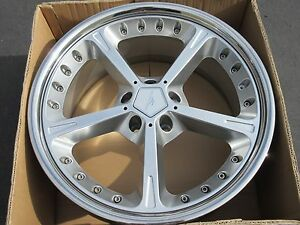1 New 20 Ac Schnitzer Type Iv Racing Oem Bmw Wheel Rim Silver Et22 Acs