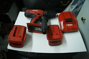Hilti Sfh 18 a 3 Speeds Drill With Charger And 2 B18 2 6ah Batteries