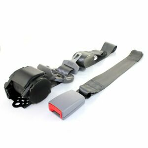 1pc 3 Point Harness Safety Adjustable Seat Belt Cars Universal Lap Strap Grey