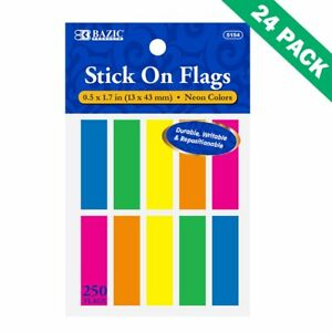 Page marker Office Sticky Tab Page Markers For Books Pack Of 24 10 pack